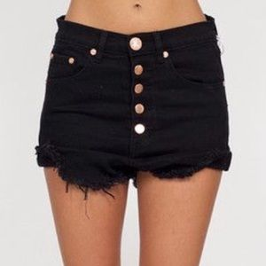 One Teaspoon Black Lovers Shorts